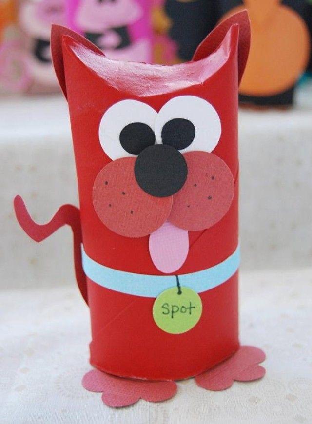 Muitas vezes DIY Animais feitos com Rolos de Papel Higiénico | Cão, Papelão e Rolo YK79