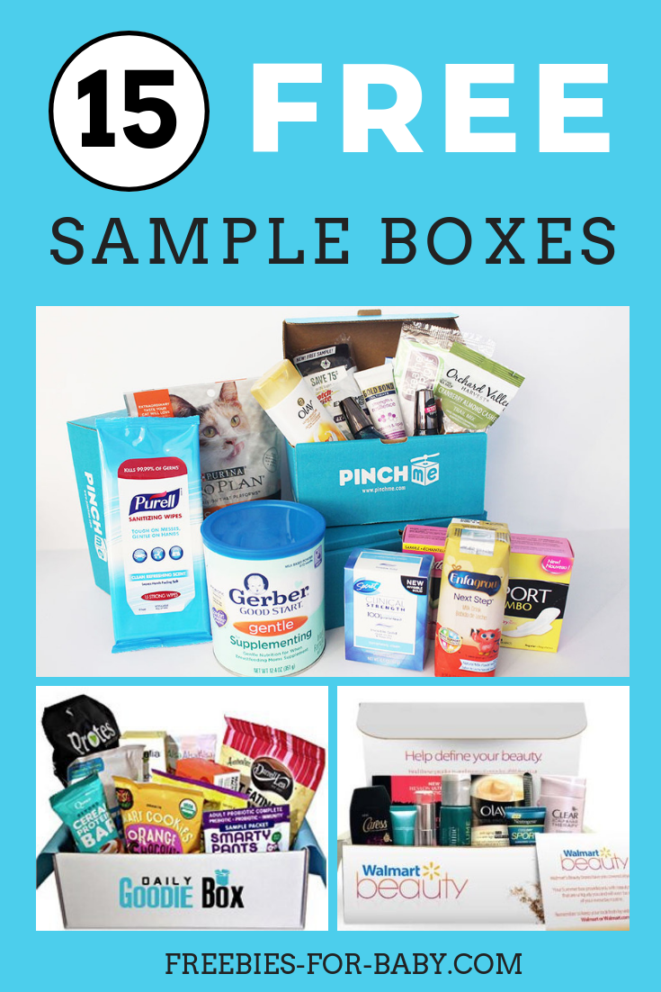 15 Free Sample Boxes Legit Free Stuff For Moms Free Sample Boxes Free Samples Without Surveys Free Stuff By Mail