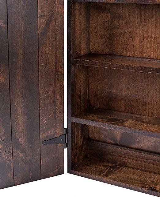 Amazon Com Solid Wood Medicine Cabinet Stained And Glazed 24x36 Home Amp Kitchen Diy Rustic Wall Staining Cabinets Wood Medicine Cabinets