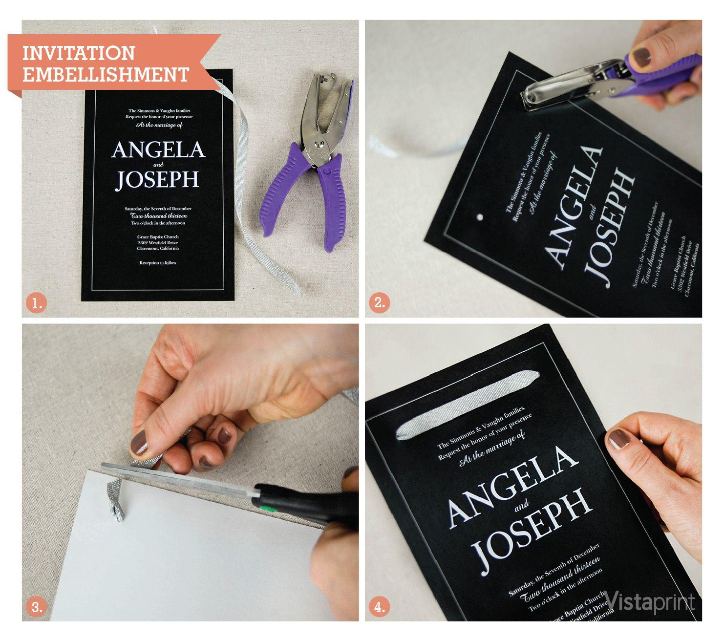 Diy wedding invite embellishments diy wedding invitation