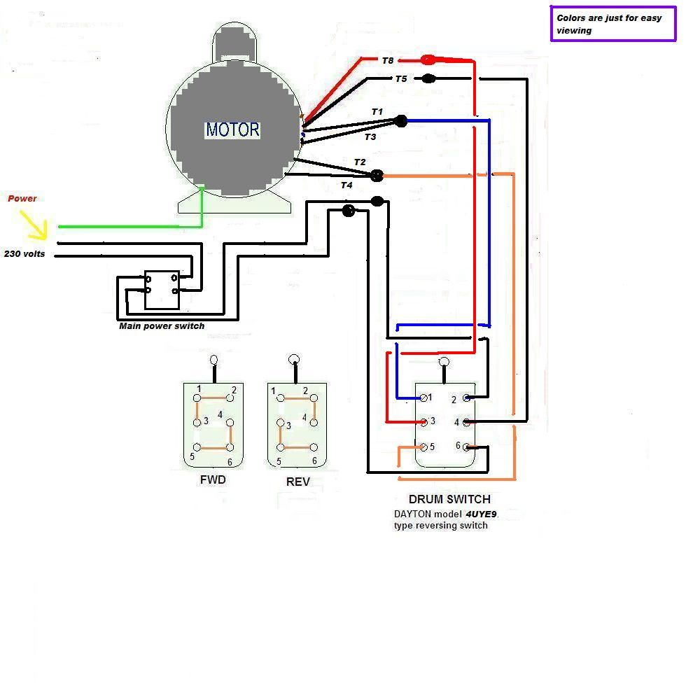 Reverse Forward Switch Further 3 Phase Drum Switch Wiring Diagram
