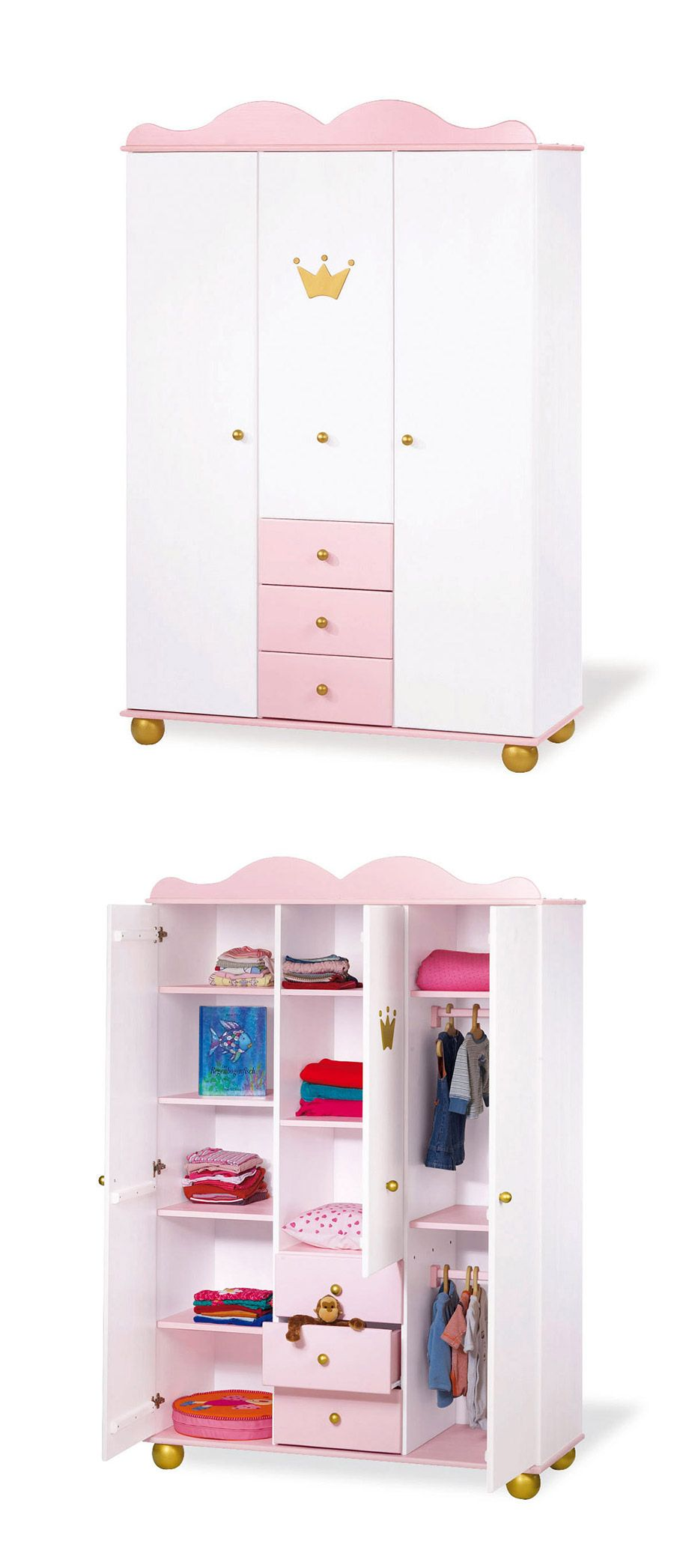kleiderschrank prinzessin karolin rosa prinzessin. Black Bedroom Furniture Sets. Home Design Ideas