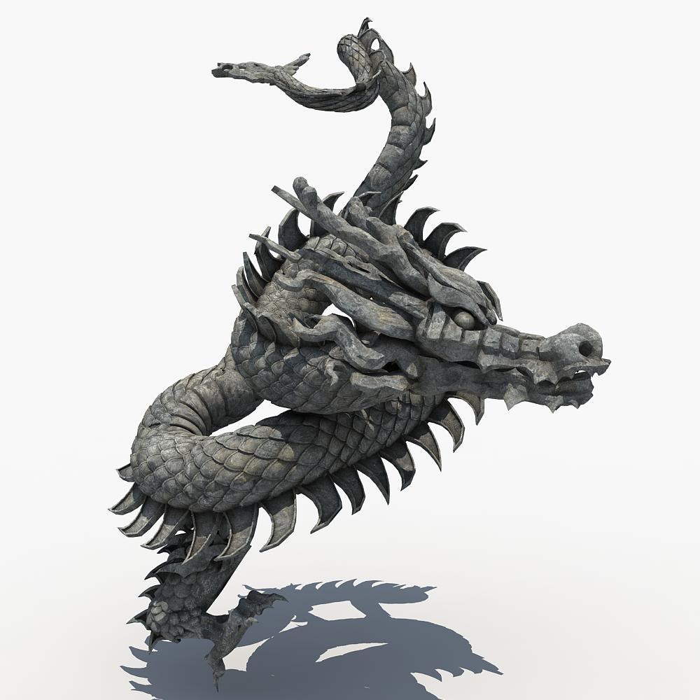 asian dragon sculpture sculpt 3d max Dragon sculpture