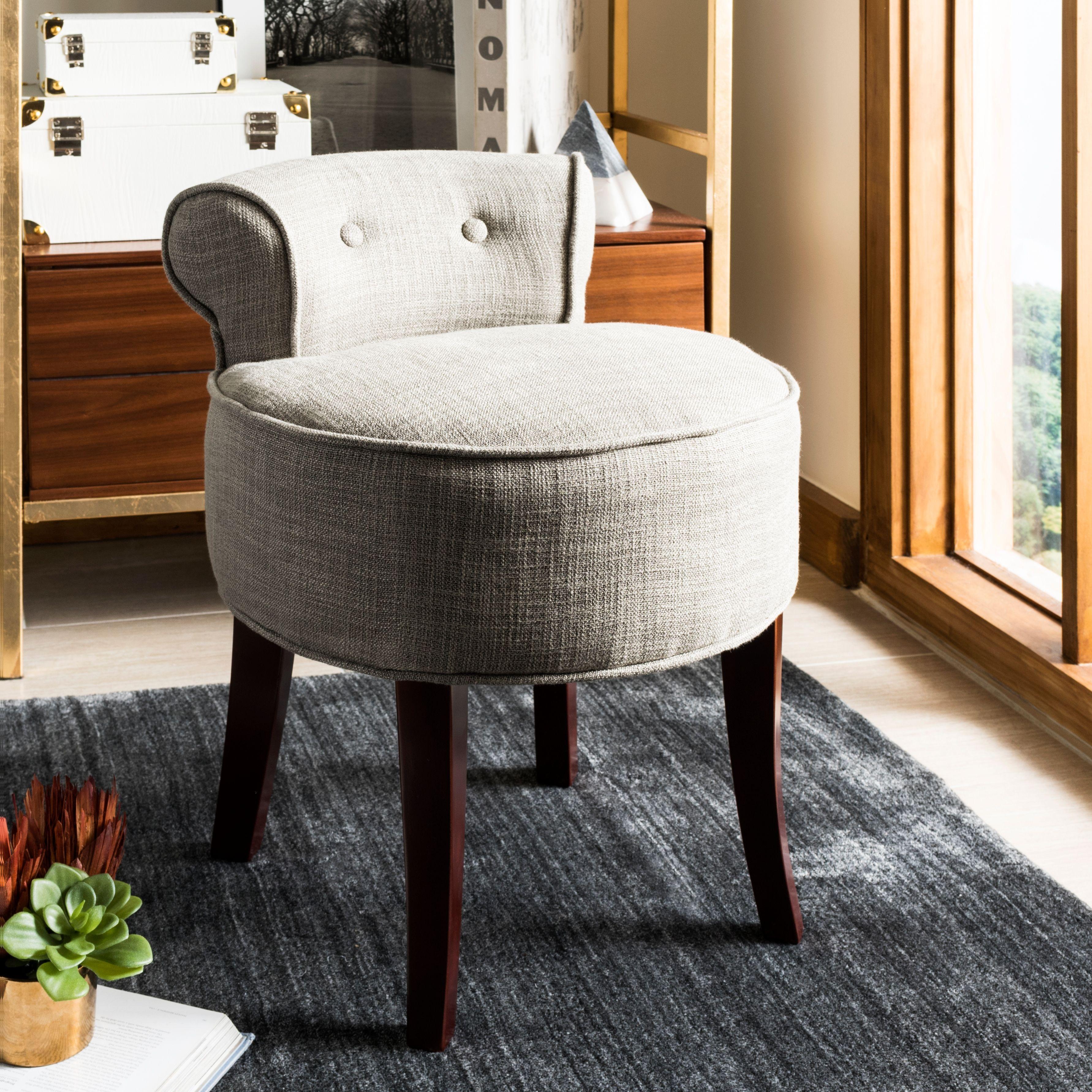Safavieh Georgia Vanity Stool Ashley Furniture Homestore Vanity Stool Vanity Chair Wood Vanity [ 3565 x 3565 Pixel ]