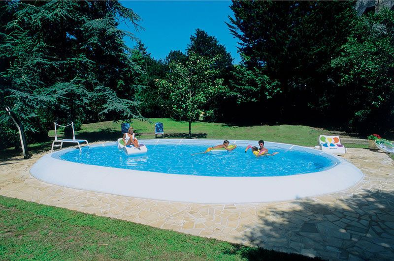 Semi Inground Swimming Pool Inflatable Fabric Outdoor
