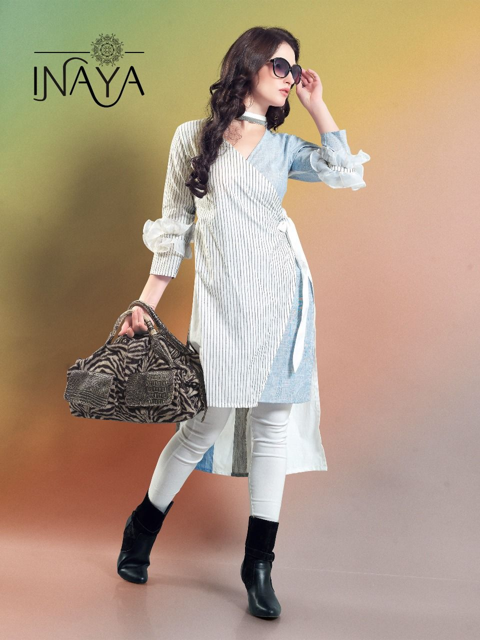 ce5a3f4788 INAYA BY STUDIO LIBAS DESIGNER OVERLAPPING SHIRT KURTIS WHOLESALE SUPPLIER  AT SURAT Contect me for Order & More Details: Whatsapp :+91 7874482383  Email: ...