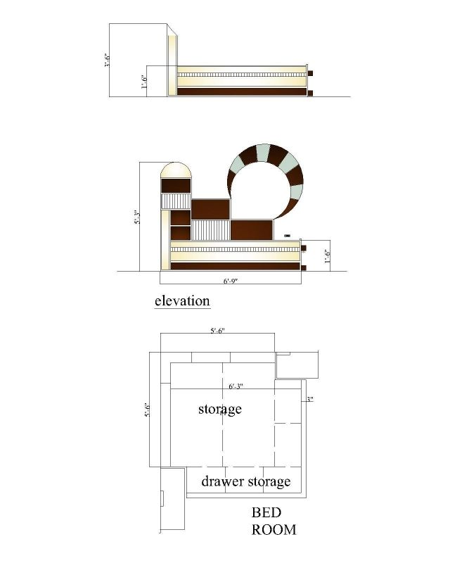 Bedroom Elevation Drawing Bed Design Drawing And Bed Elevation
