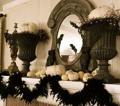 Great Halloween Mantel Halloween/Costumes (not generic fall - hobby lobby halloween decor