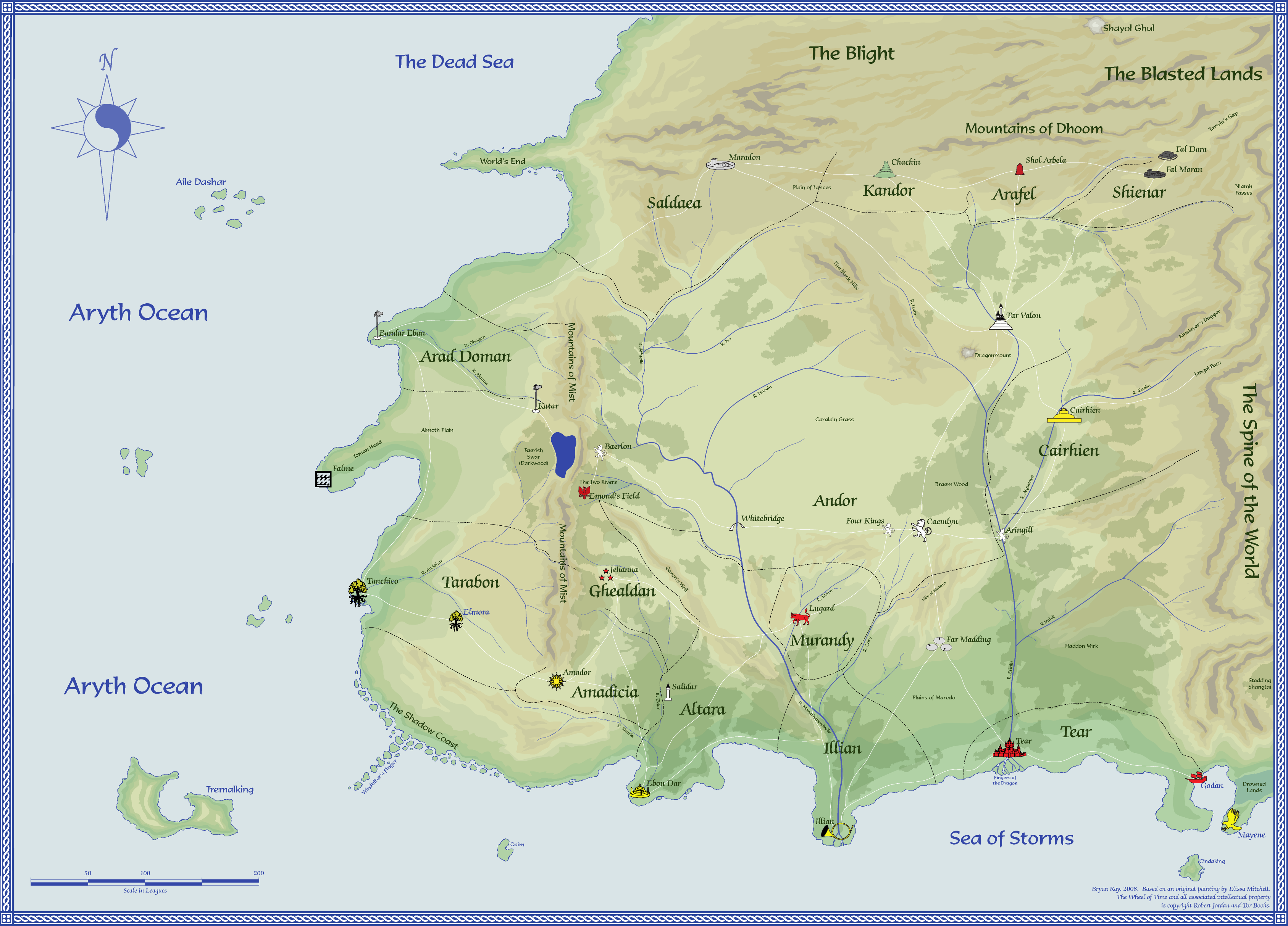 Robert jordans the wheel of time map by randland via robert jordans the wheel of time map by randland via cartographer guild gumiabroncs Choice Image