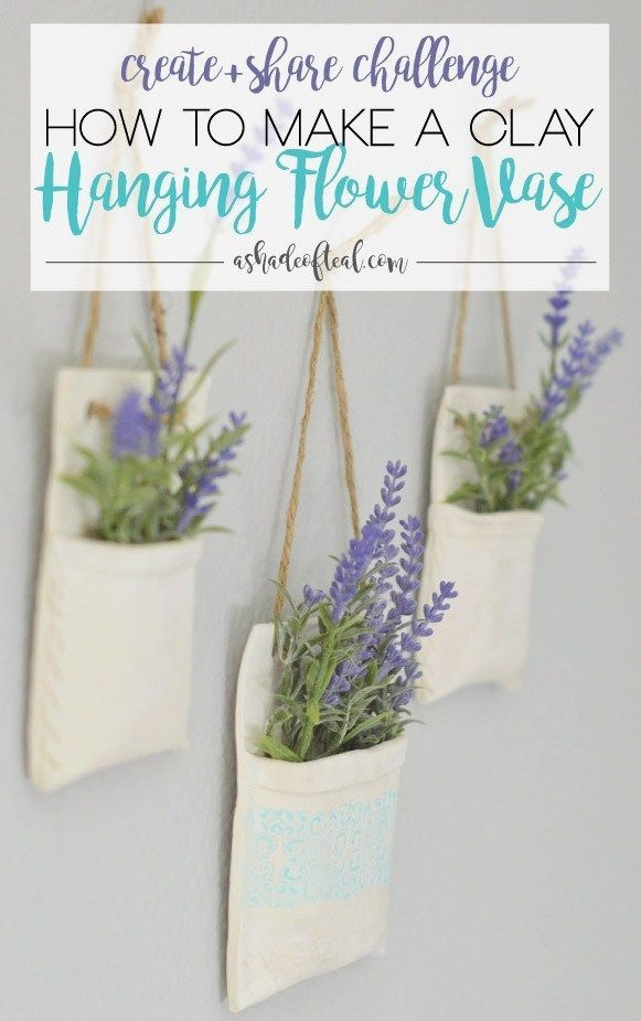 Photo of How to make Clay Hanging Flower Vases, Create & Share Challenge