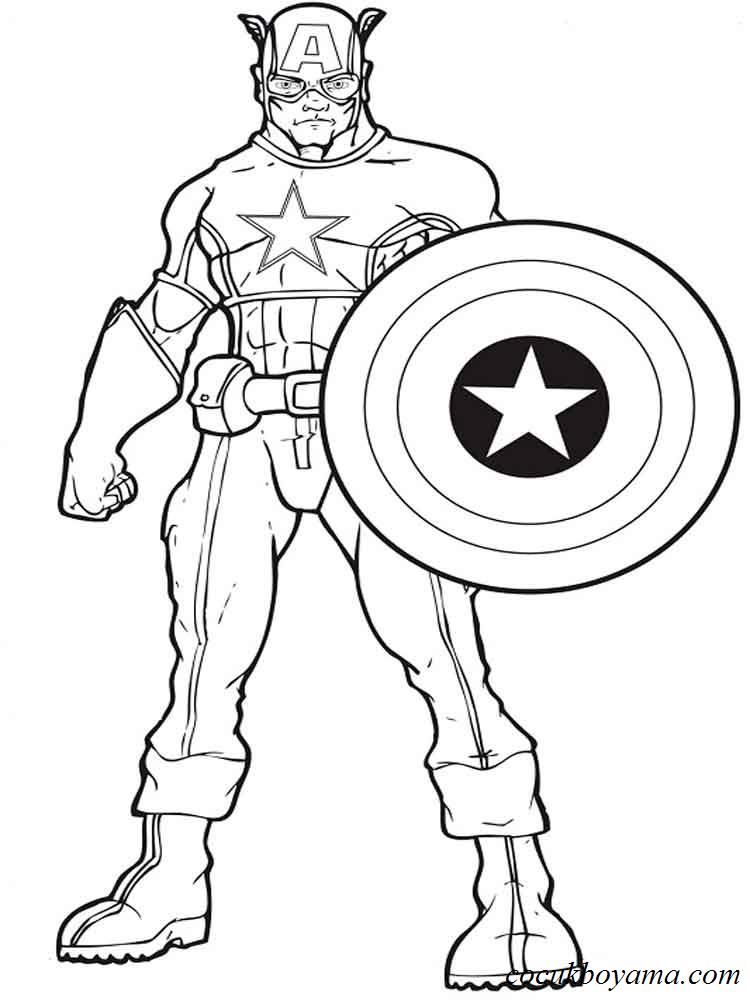 Kaptan Amerika Kaptan Amerika Boyama Kitaplari