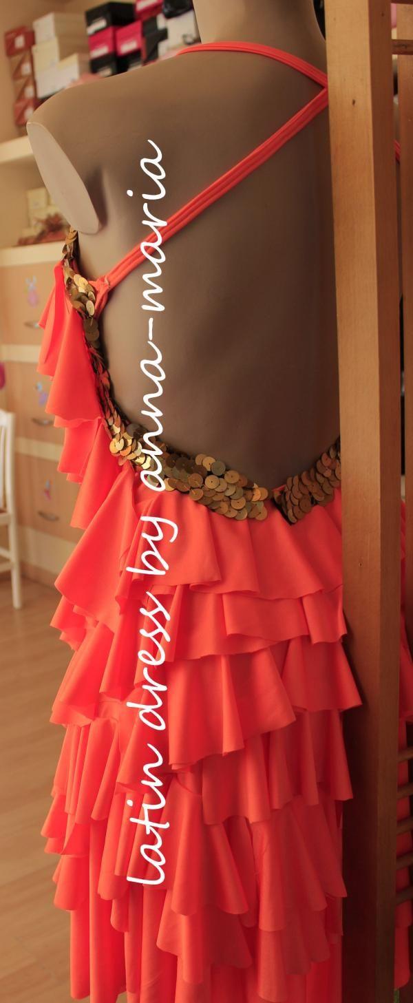 φόρεμα λάτιν βολάν  Φορέματα Χορού  e4fe7a034f2