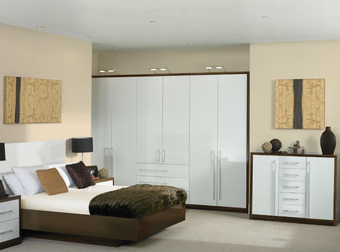 Bella High Gloss White Venice Bedroom