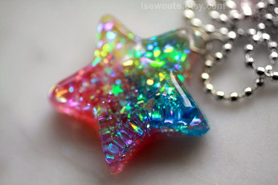 Star Cluster Necklace Pretty Pink Stars.. or choose your own colour rainbow!