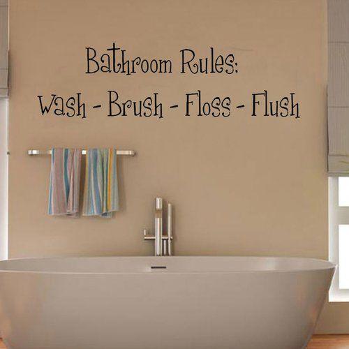 Photo of Wandtattoo Badezimmer-Regeln East Urban Home Farbe: Beige, Größe: Groß
