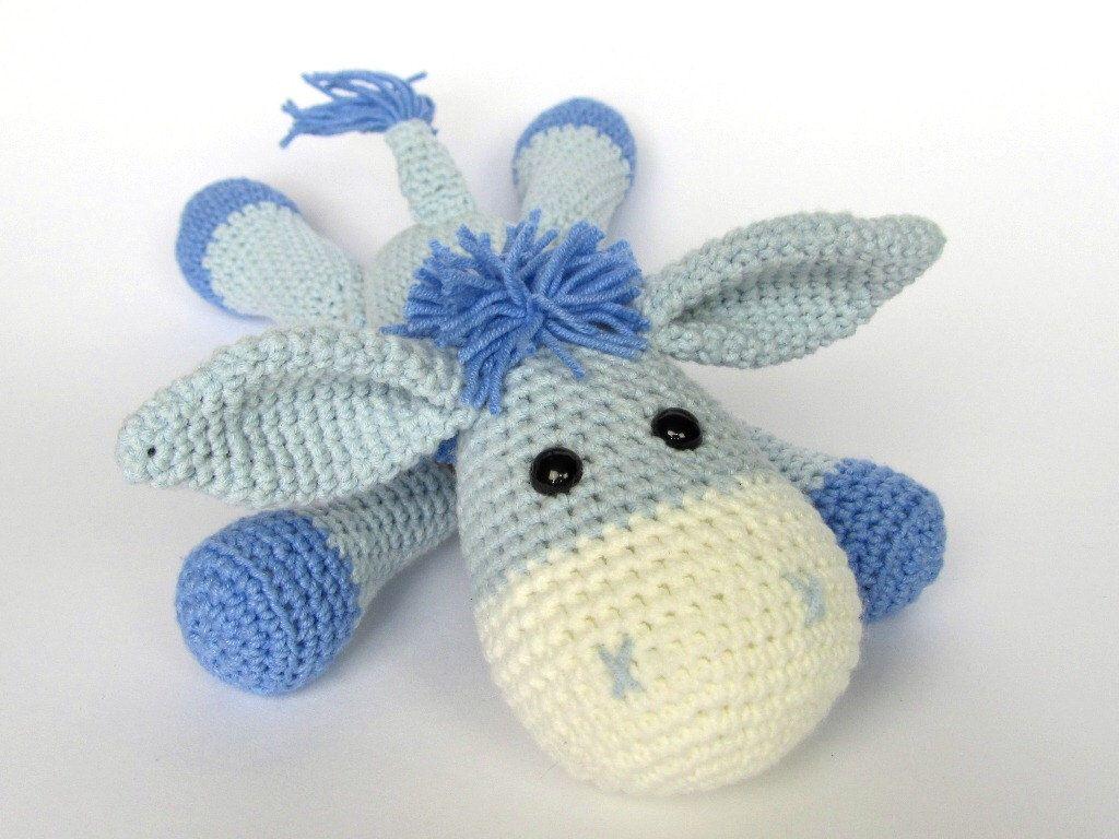 Amigurumi For Dummies Book : Donkey ruda amigurumi crochet pattern pdf e book stuffed
