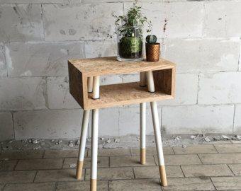 art culos similares a table basse osb plexi blanc en etsy mesitas de noche pinterest. Black Bedroom Furniture Sets. Home Design Ideas