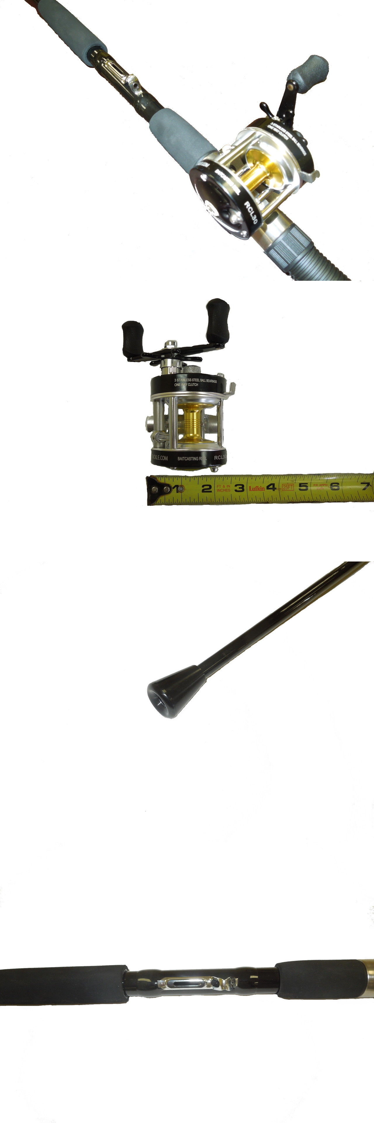 Saltwater Combos 179959 Sabiki Bait Rod 7 And Bait Caster Reel