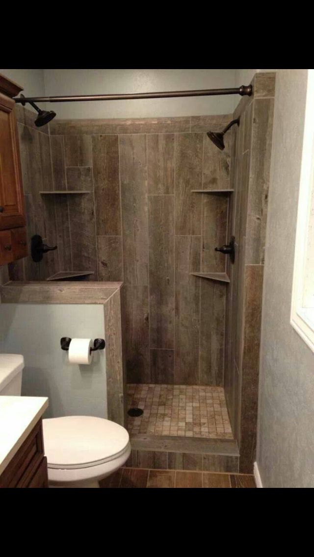 Awesome Barn Wood Ceramic Tile Shower.