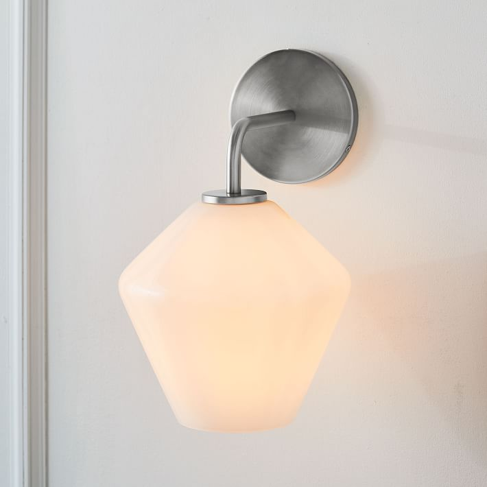 Sculptural Glass Geo Wall Sconce - Small   west elm ...
