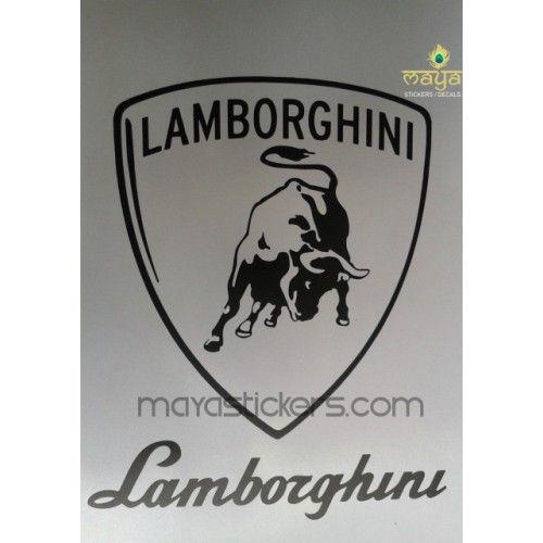 Lamborghini Vinyl Decal Sticker For Cars Bikes And Laptop Custom - Custom vinyl decals india