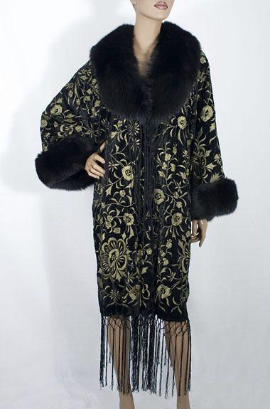 Adrienne Landau 1920s style evening coat