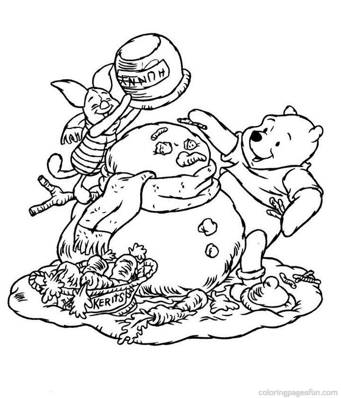 Christmas Disney Coloring Pages 30 | Winter | Pinterest