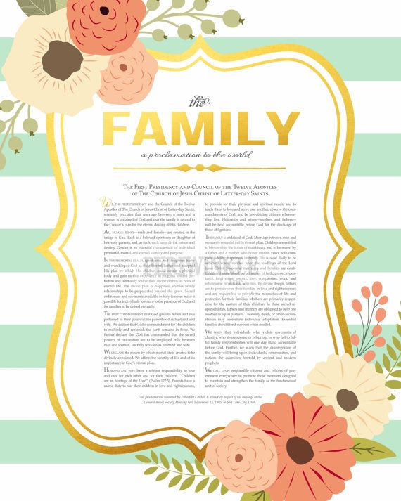 picture relating to The Family a Proclamation to the World Printable known as LDS Household Proclamation-The Family members-A Proclamation towards the