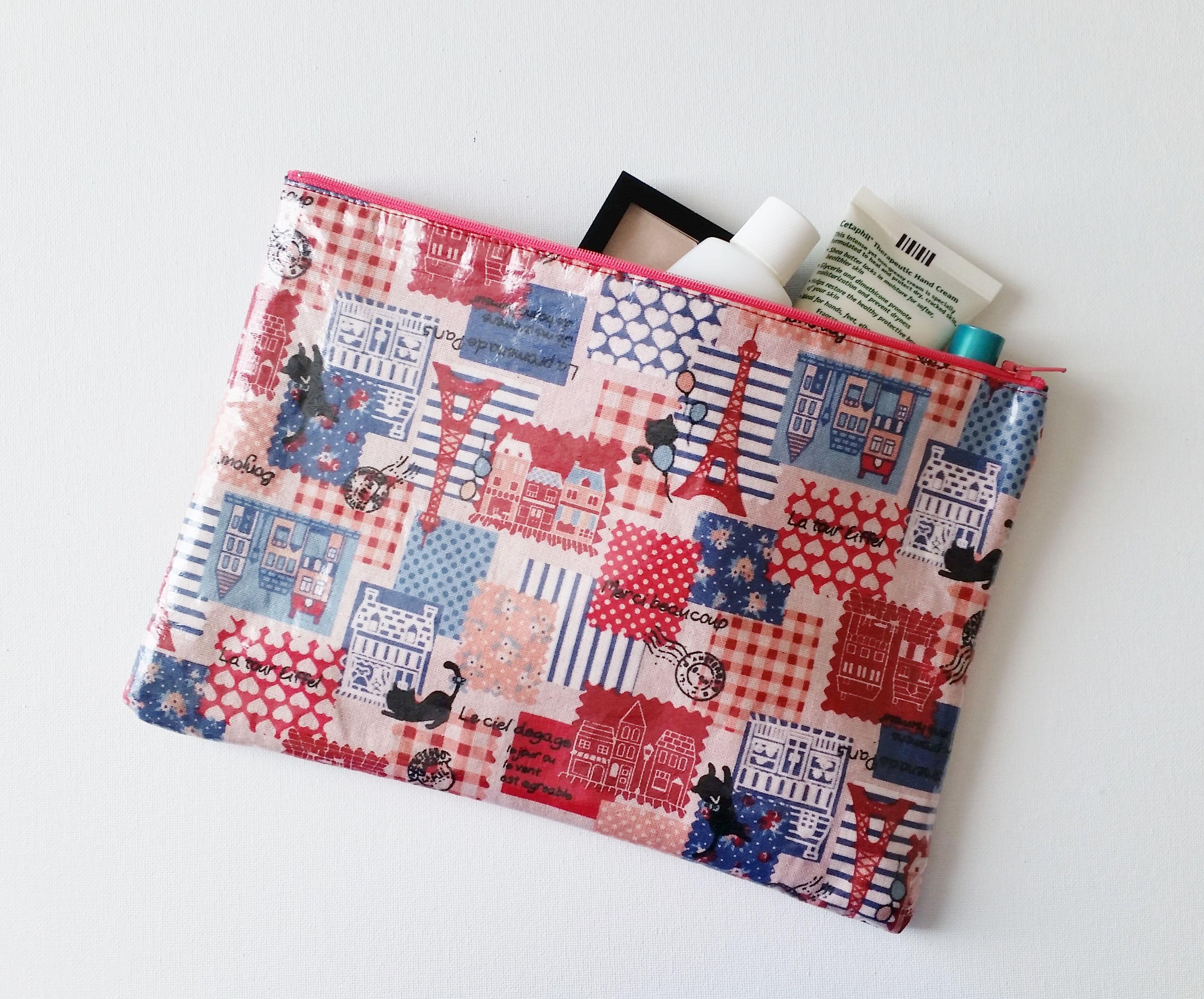 DIY Laminate Fabric Pouch Tutorial - | Laminated fabric ...