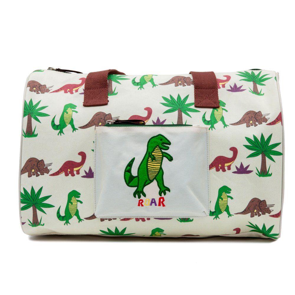 Overnight Bag Dinosaur Walk Pink Lining | Kids Bedroom Accessories ...