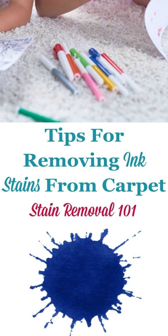 Tips For Removing Ink Stain On Carpet Stain Remover