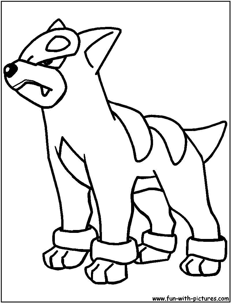 Pokemon Houndour Coloring Pages Cartoon coloring pages
