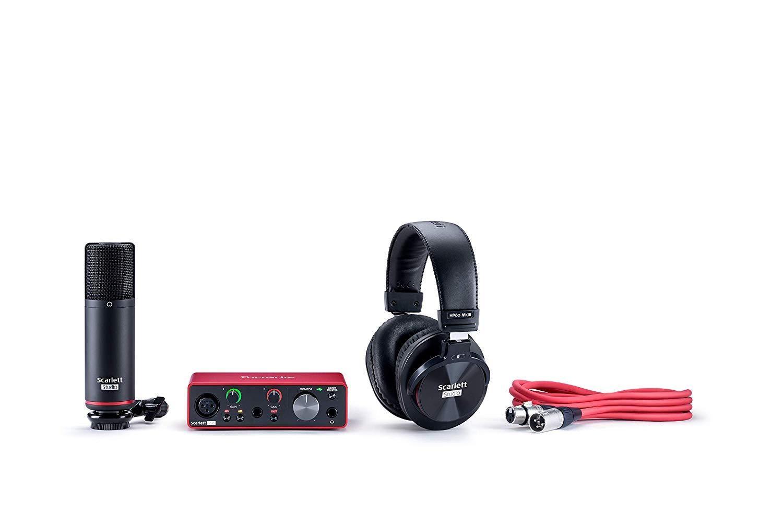 Focusrite Scarlett Solo Studio 3rd Gen USB Audio Interface and Recording Bundle with Pro Tools