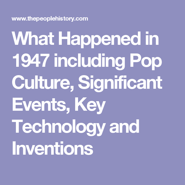 Items Similar To 1947 Birthday Trivia Game: What Happened In 1947 Including Pop Culture, Significant