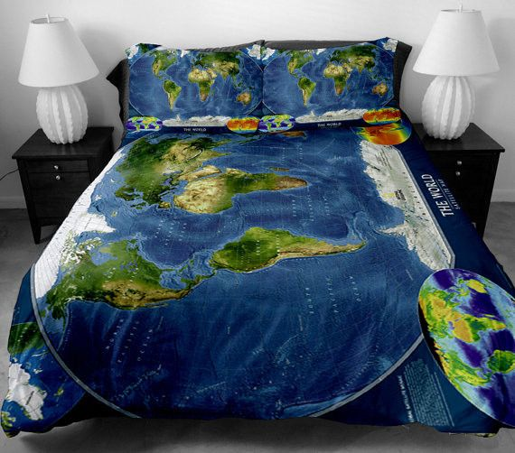 World Map Bedding Sets For All Sizes Map Bedding Duvet Cover Sets 3d Bedding
