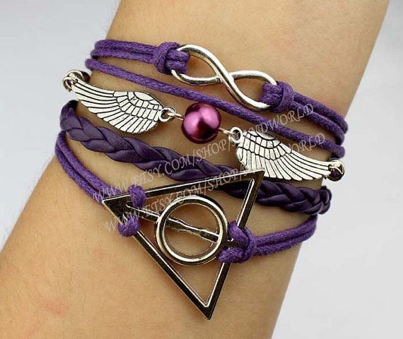jewelry bracelet deathly hallows antique silvery by handworld, $5.29