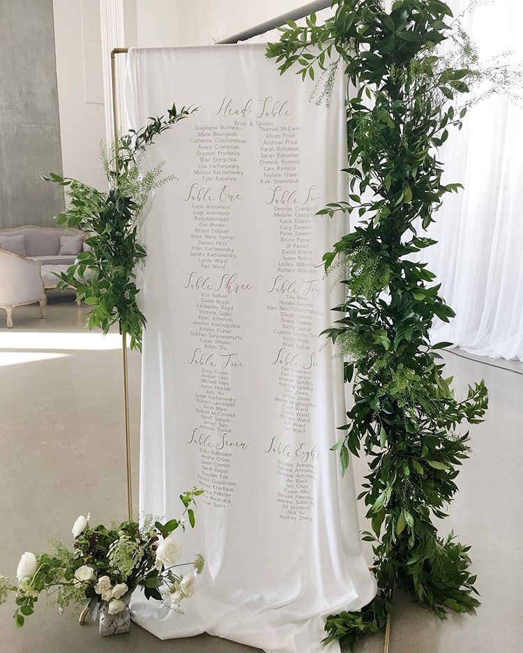 Our Linen Seating Chart By At Vikingvirtue Was Absolutely Stunning I