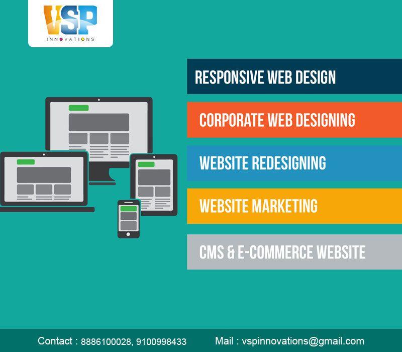 Vsp Innovations Based In Vijayawada Provides Most Reliable Websites In World Wide It Is A Web Website Design Wordpress Website Development Website Development