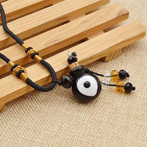 Amazon.com: Essential Oil Perfume Bottle Necklace Evil Eye Vial Diffuser Pendant Chain Necklace 1 Pc: Jewelry