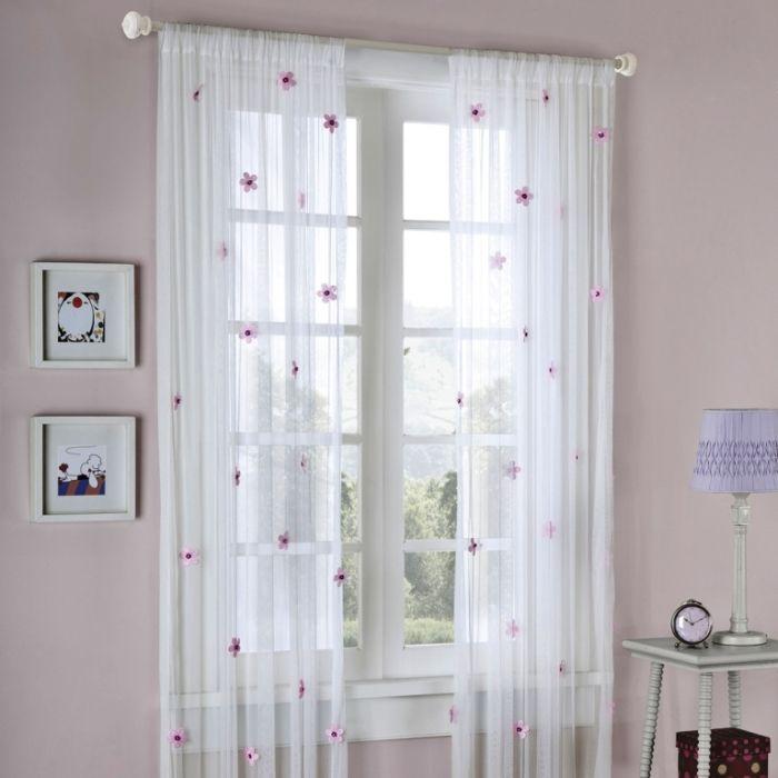 Mizone Taylor Flower Sheer Curtain Panel | Cortinas | Pinterest