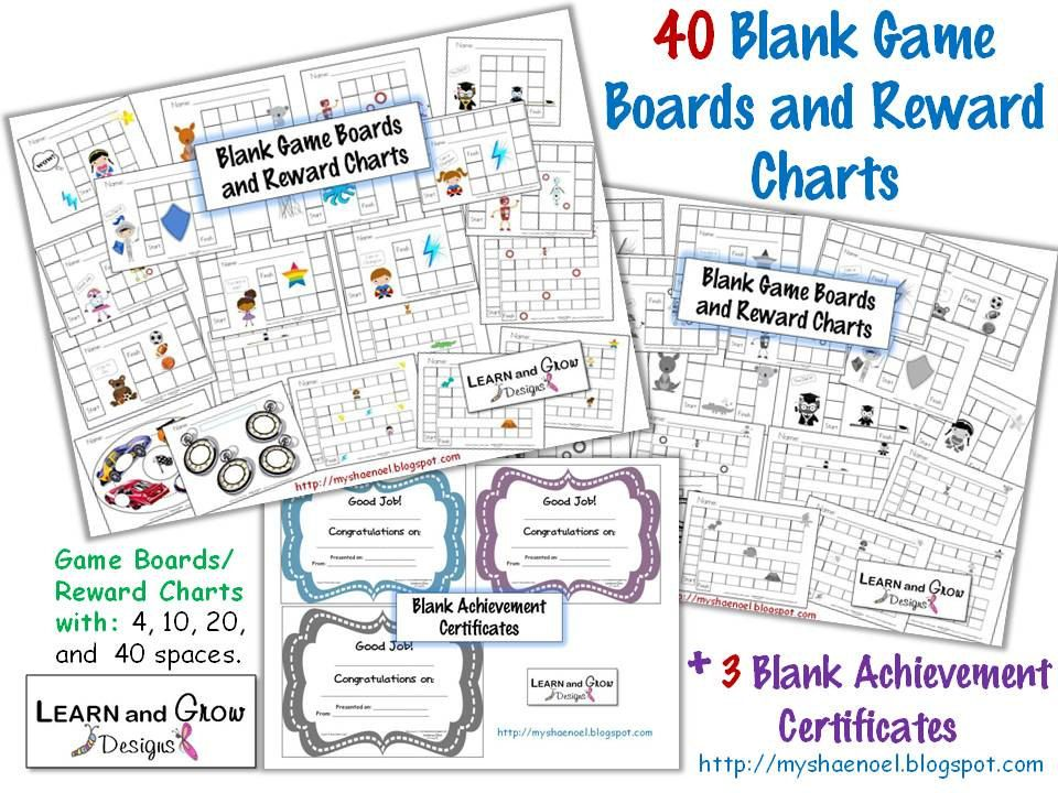 40 Printable Blank Game Boards, Reward Charts, and Certificates - printable achievement certificates