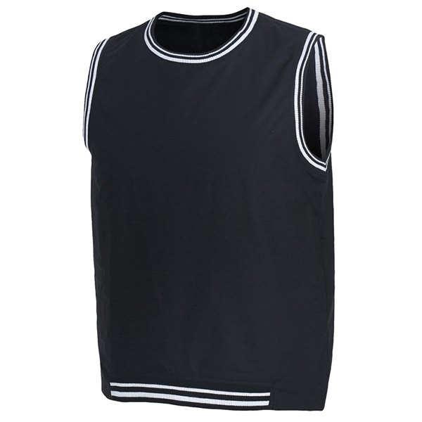 18.61$  Buy here - http://dickl.justgood.pw/go.php?t=176631602 - Rib Splicing Letter Print Round Neck Sleeveless Men's Tank Top