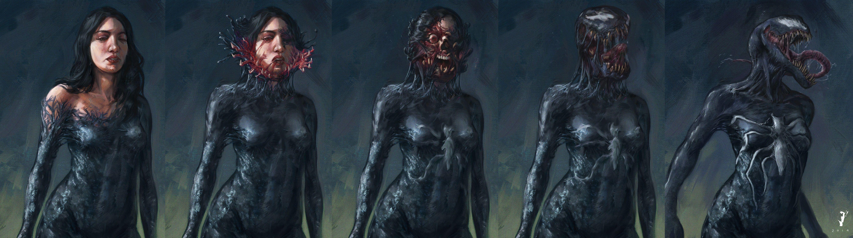 Grisly Female Venom Transformation - by Isignrob on