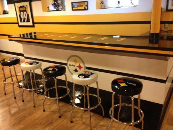 Photo of OUR STEELERS MAN CAVE… #recreationalroom #recreational #room #man #cave