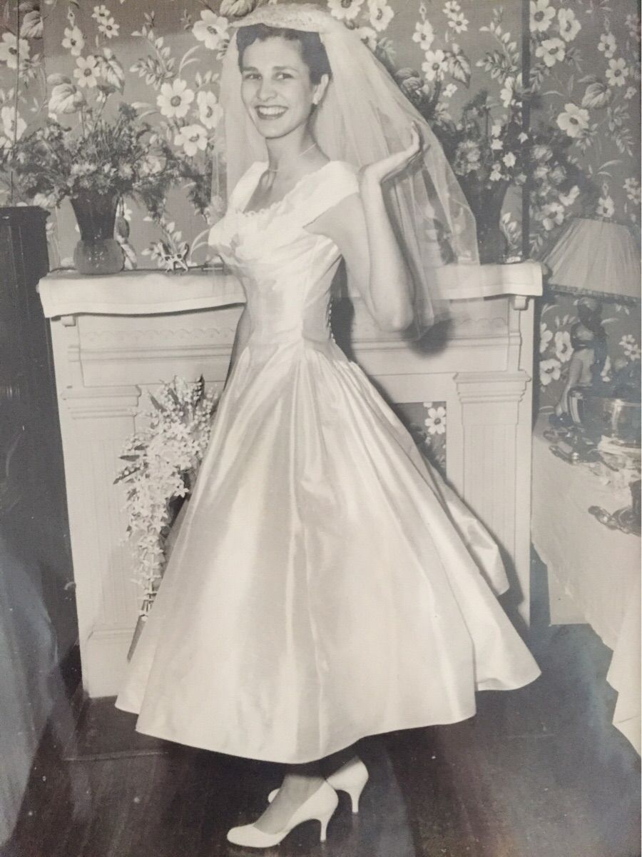 My grandmother on her wedding day circa 1956 Bride, Old