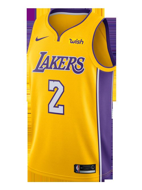 Los Angeles Lakers Lonzo Ball Icon Swingman Jersey Lakers Store Los Angeles Lakers Nike Men Lonzo Ball