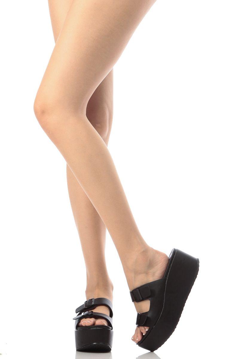 8469a1b6ee91 Black Faux Leather Platform Sandals   Cicihot Sandals Shoes online store  sale Sandals