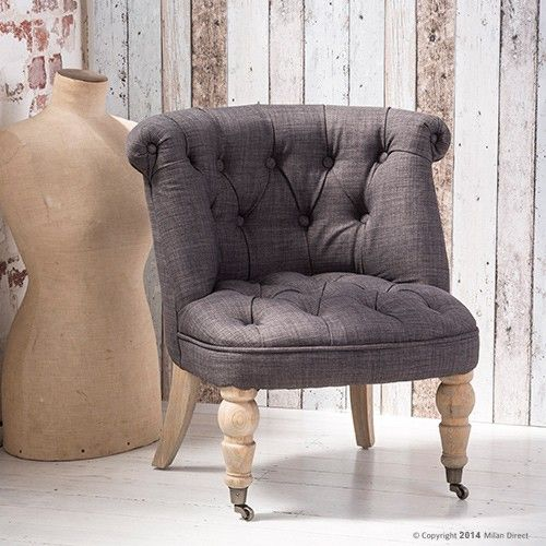 Provence Lounge Chair Charcoal French Provincial Furniture