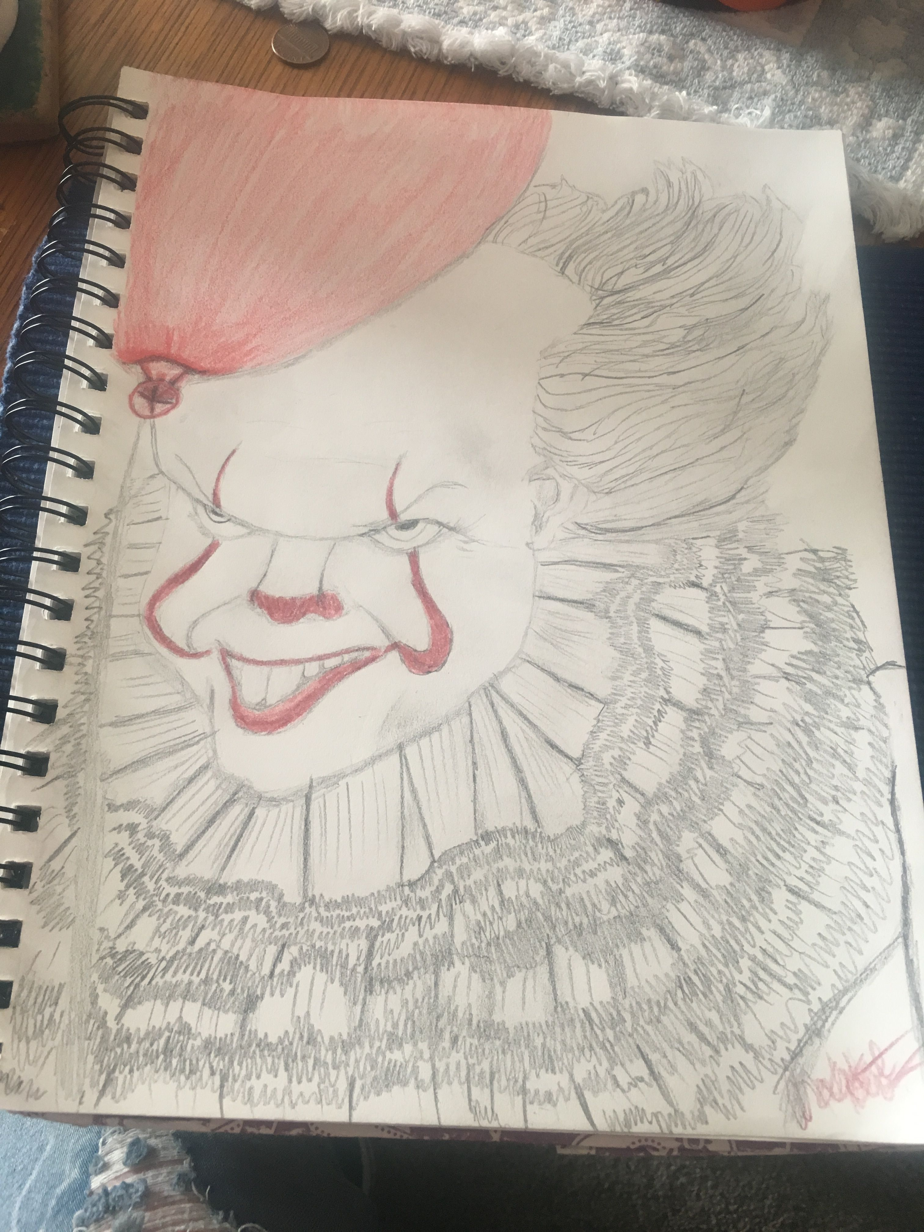 """I m pennywise the dancing clown"""" 🤡🤡 my friend wanted me to make a"""