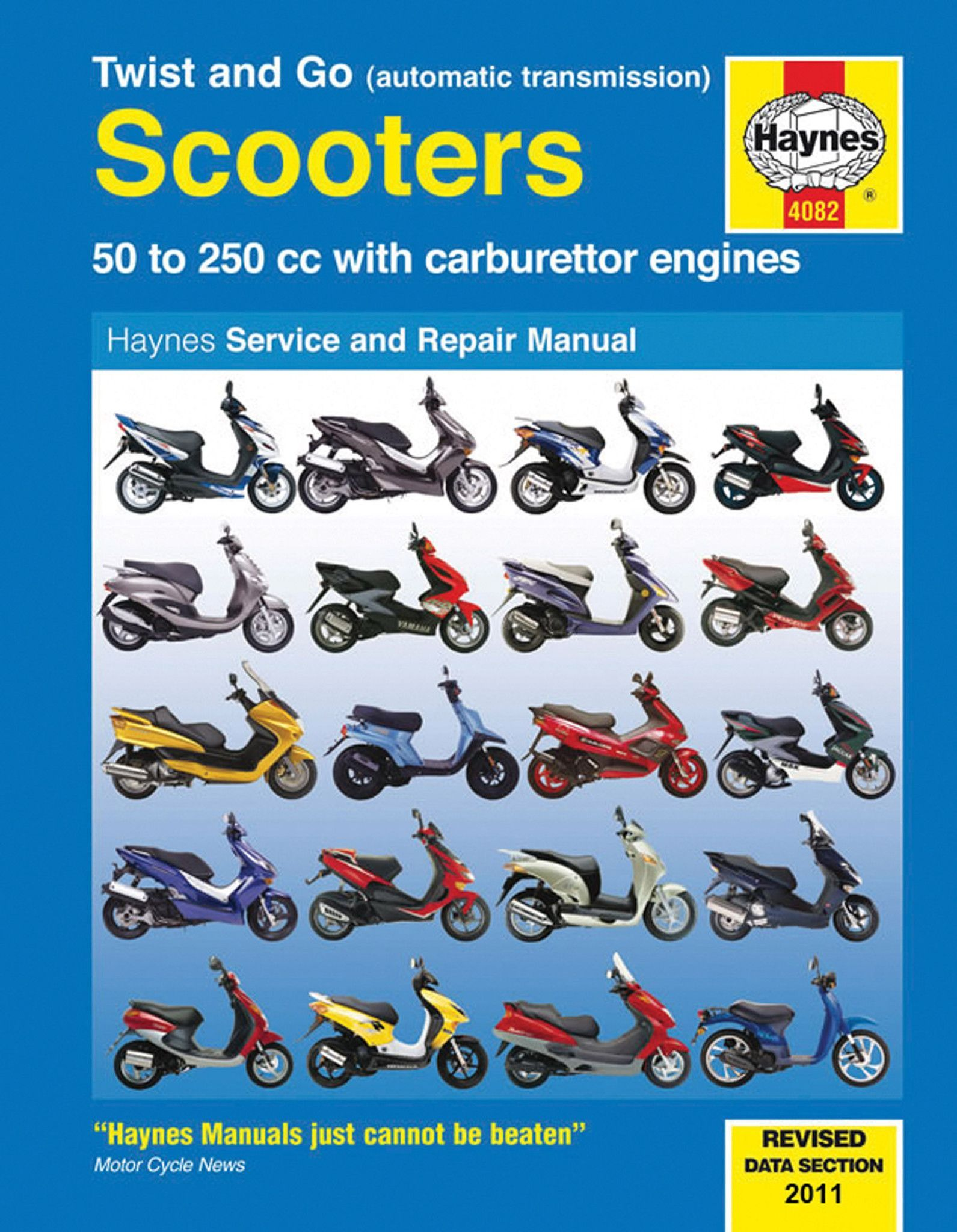 Haynes M4082 Repair Manual for Twist and Go (automatic transmission)  Scooters 50 to 250 cc engines
